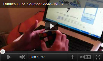 Rubik's Cube solution video